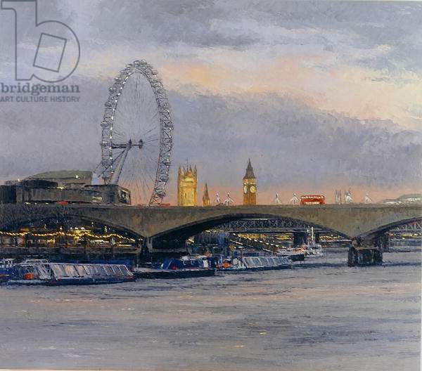 The Eye and Westminster, 2004 (oil on canvas)