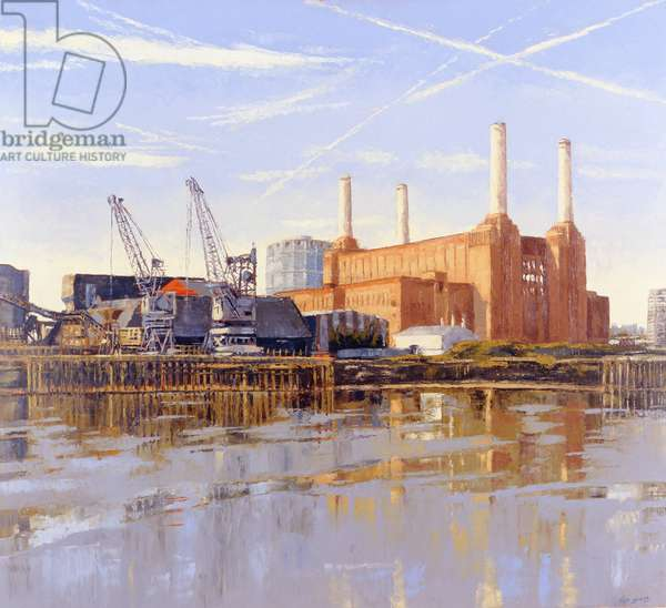 Battersea Power Station, 2004 (oil on canvas)