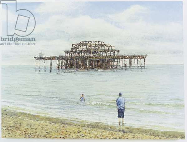 Brighton West Pier, 2004 (oil on canvas)