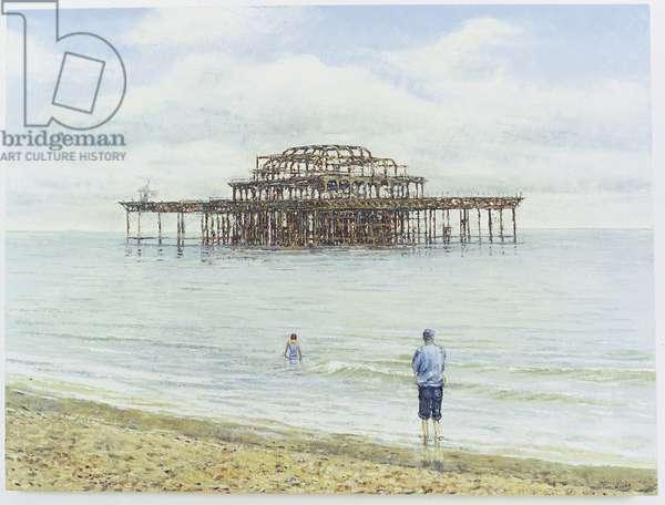 Brighton West Pier, 2004 (oil on canvas)