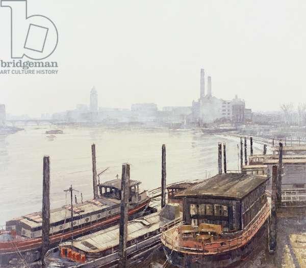 Chelsea Harbour, 2004 (oil on canvas)