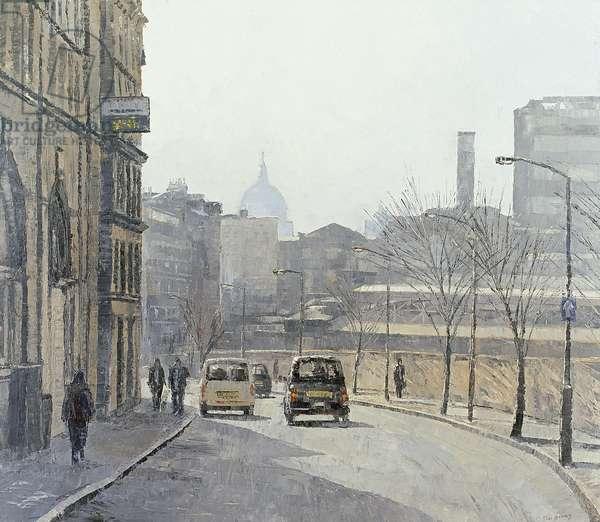 Turnmill St, Faringdon, 2004 (oil on canvas)