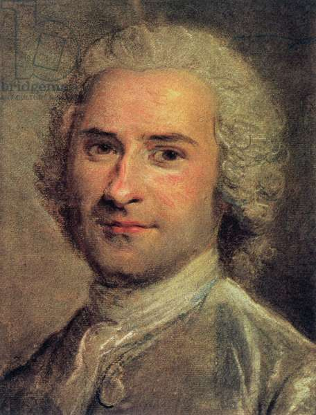 Portrait of Jean Jacques Rousseau, 1712-78 (print)