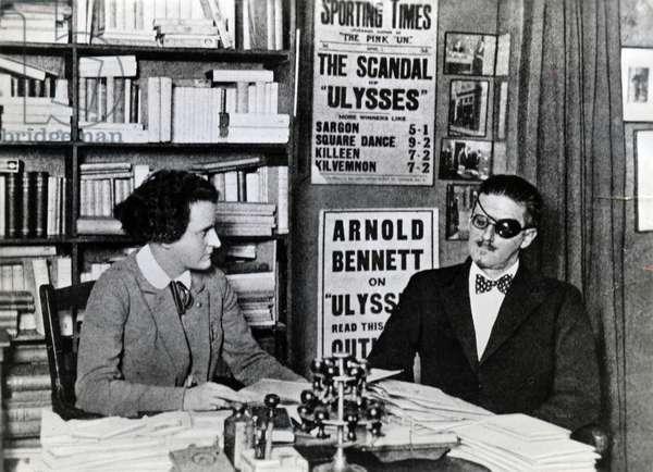 Sylvia Beach and James Joyce, c.1922 (b/w photo)