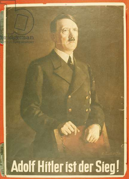 Adolf Hitler ist der Sieg!  German propaganda poster (colour litho)