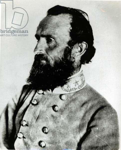 Portrait of Thomas J. 'Stonewall' Jackson (b/w photo)