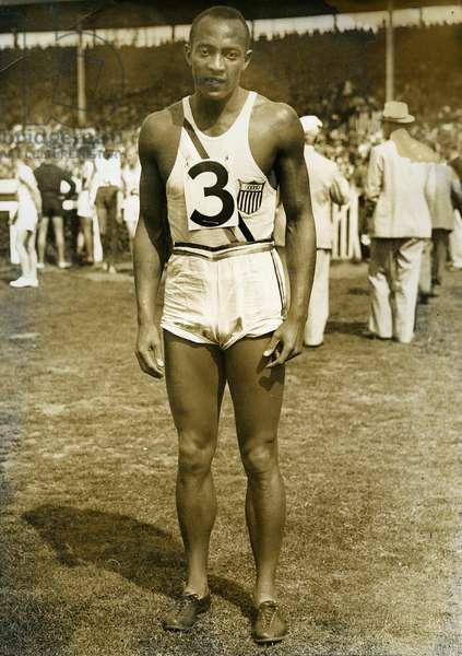 Jesse Owens at the Berlin Olympics, 1936 (b/w photo)