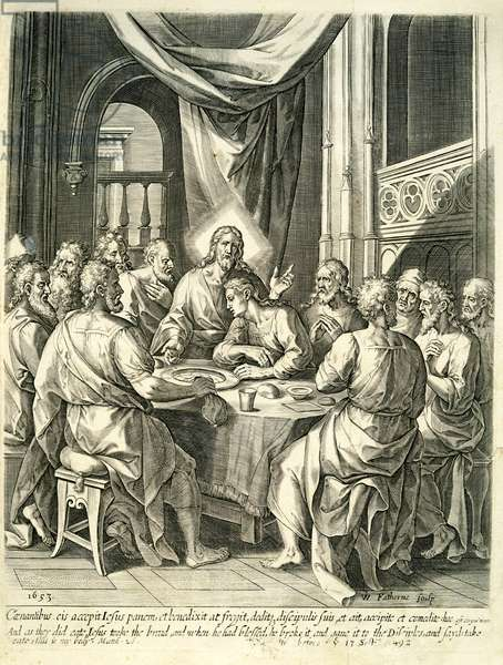 The Last Supper, 1653 (engraving)