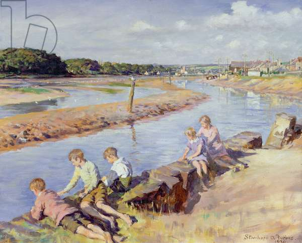 Young Anglers at Hayle, 1930