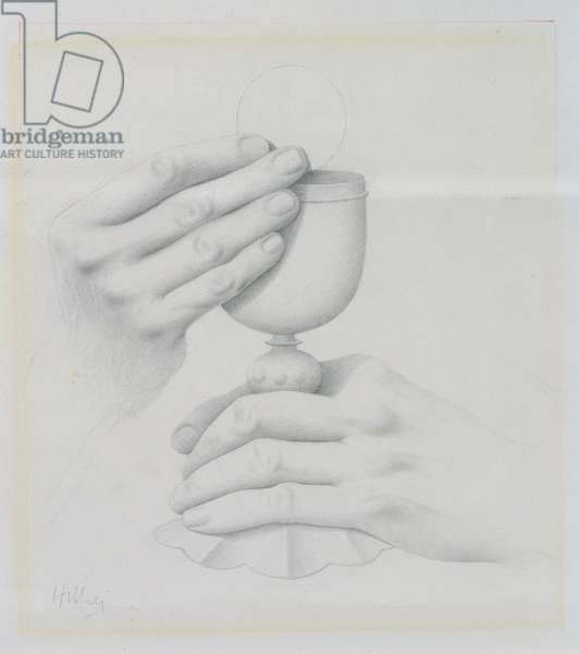 Seven Sacraments: Eucharist (pencil on paper)