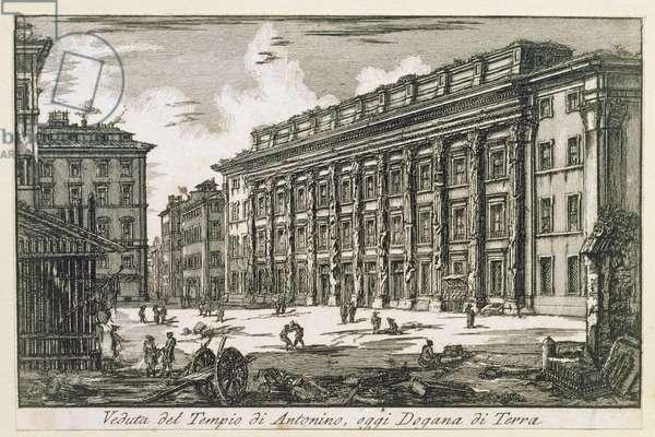 Tempio di Antonino in Rome, c.1780 (etching)