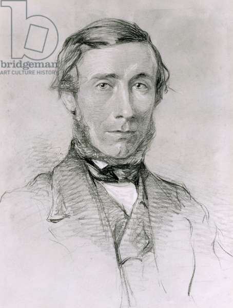 John Tyndall (1820-93) (charcoal heightened with white on paper)
