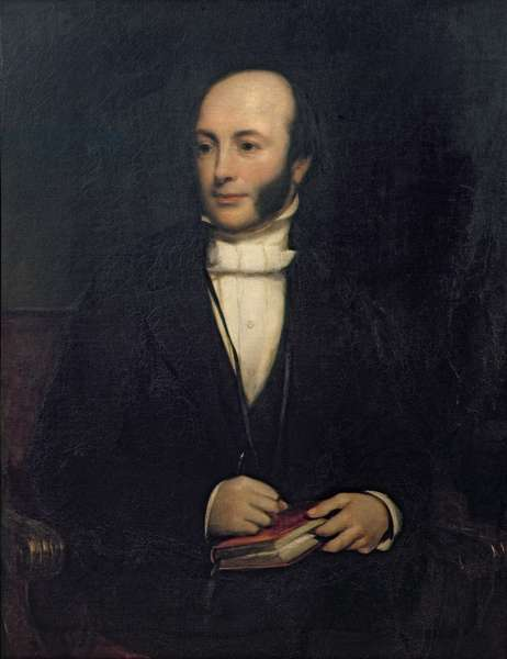 Portrait of Rev. John Barlow (1798-1869) (oil on canvas)