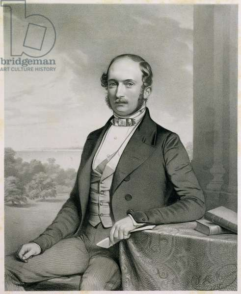 Prince Albert (1819-61), from 'Portraits of Honorary Members of the Ipswich Museum', published by George Ransome, 1851 (lithograph)
