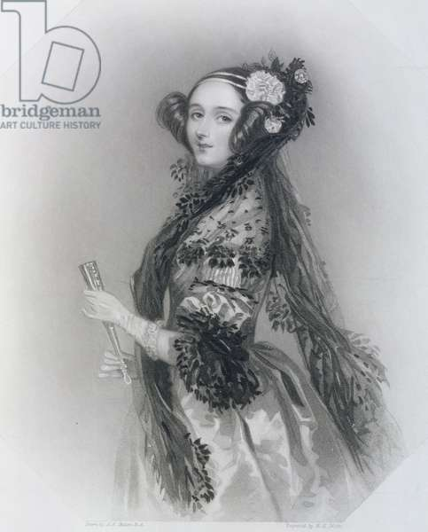 Augusta Ada King, Countess of Lovelace (1815-52), 1852 (etching)