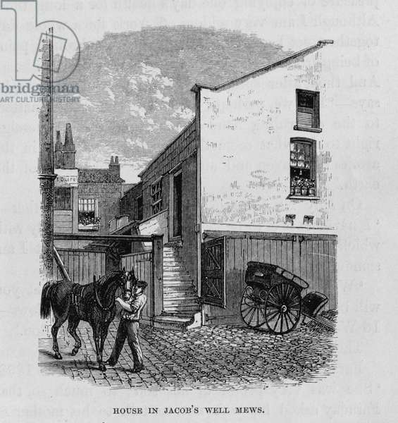 The House in Jacob's Well Mews where Michael Faraday (1791-1867) was born (litho)