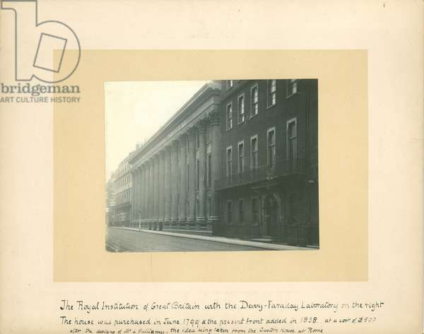 View of the Royal Institution, Albemarle Street, London, c.1895 (b/w photo)
