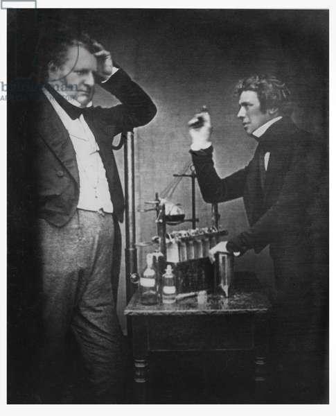 Portrait photograph of Michael Faraday (1791-1867) and John Frederic Daniell (1790-1845) (photo)