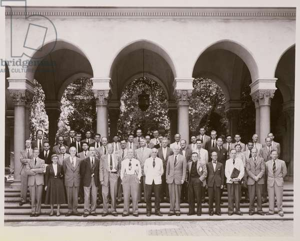 'Structure of Proteins' meeting at Pasadena (b/w photo)