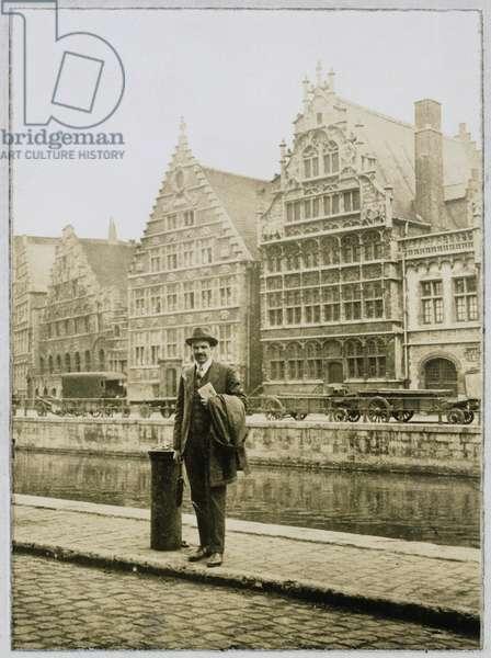 William Lawrence Bragg (1890-1971) at Solvay, 1925 (b/w photo)