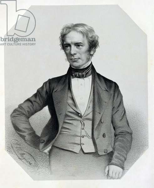 Michael Faraday (1791-1867) 1851 (litho)