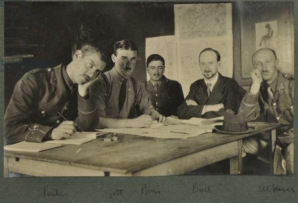 Tucker, Golt, Paris, Bull, Atkins, c.1916 (b/w photo)