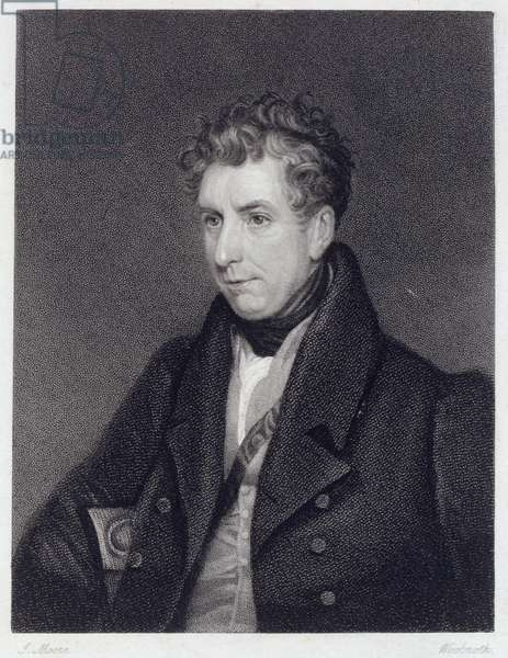 William Jerdan (1782-1869) engraved by Woolnoth (etching)