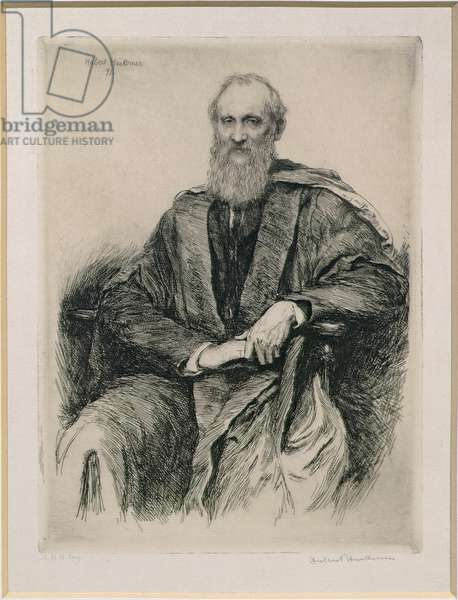 William Thomson, 1st Baron Kelvin (1824-1907) British mathematician and physicist, 1891 (etching)