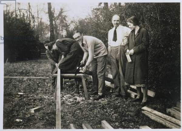 Sir William Lawrence Bragg (1890-1971) (b/w photo)