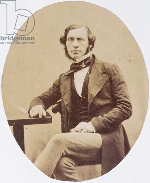 Portrait of Sir William Grove (1811-96) (b/w photo)