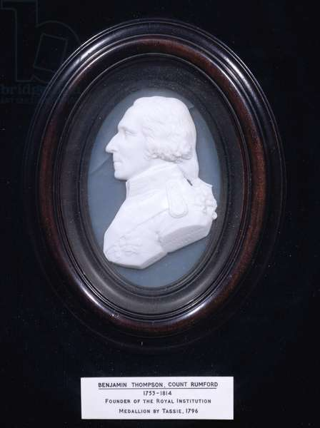 Medallion depicting Benjamin Thompson, Count Rumford (1753-1814), 1796