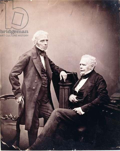 Michael Faraday (1791-1867) and William Thomas Brande (1788-1866) (seated) 1850s-mid 1860s (albumen print)