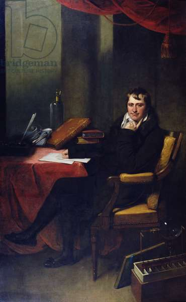 Portrait of Humphry Davy (1778-1829) (oil on canvas)