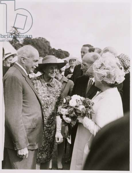 William Lawrence Bragg (1890-1971) and Her Majesty the Queen Mother (1900-2002) (b/w photo)