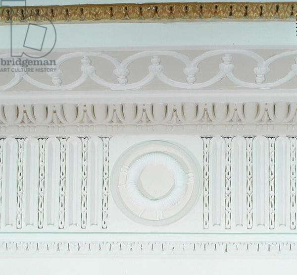 Faraday's electro-magnetic induction, detail from the frieze of the Royal Institution's Main Entrance, 1930 (plaster)