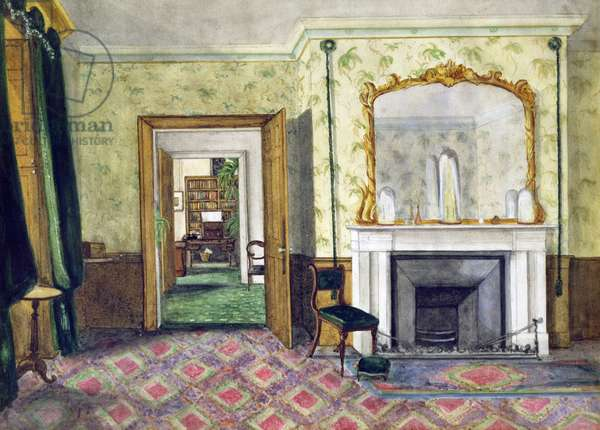Michael Faraday's flat at the Royal Institution, 1850-55 (w/c on paper)