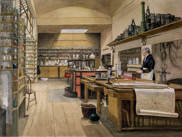 Sergeant Anderson in the Basement Laboratory, 1852 (w/c on paper)