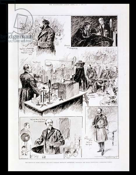 The Prince of Wales (1841-1910) Opening the Davy-Faraday Research Laboratory, published in 'The Illustrated London News', 1897 (wood engraving)