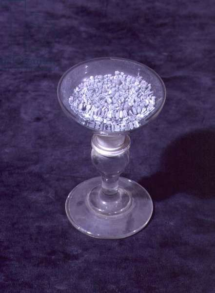 Sample of magnesium prepared by Sir Humphry Davy (1778-1829)