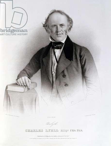 Charles Lyell (1797-1875) engraved by Albert Newsam (litho)