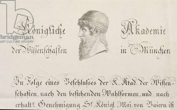 A Munich Royal Academy of Science official document
