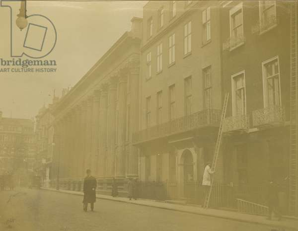 View of the Royal Institution, London, March 1912 (b/w photo)
