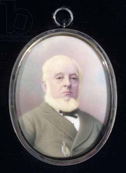 Portrait miniature of Warren de la Rue (1815-89)