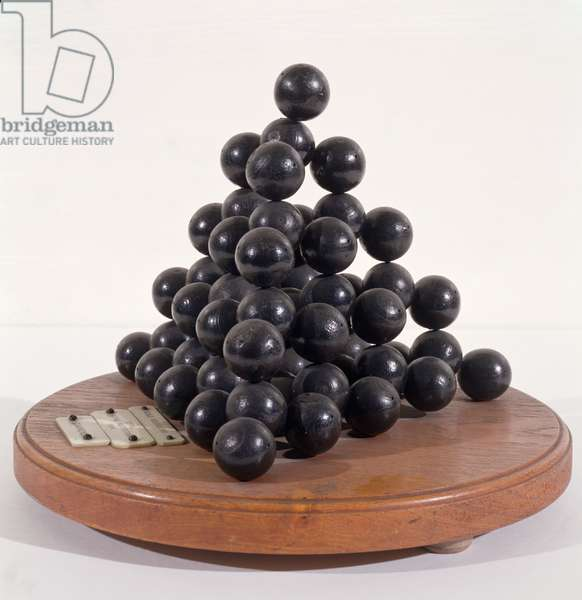 Model of the crystal structure of diamond, associated with W.H. Bragg, 1924 (painted wood)