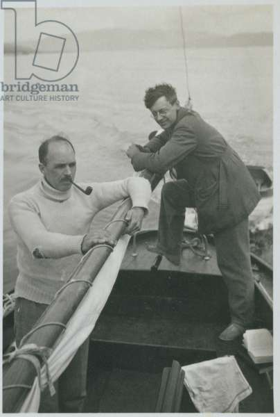 William Lawrence Bragg (1890-1971) and Ritchie (b/w photo)