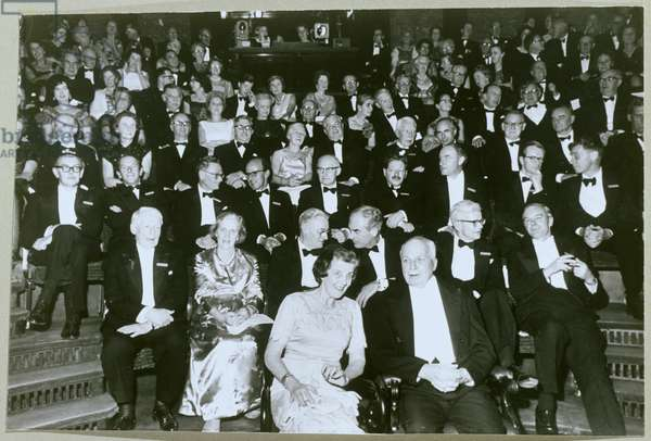 William Lawrence Bragg (1890-1971) and the Royal Institution Audience (b/w photo)