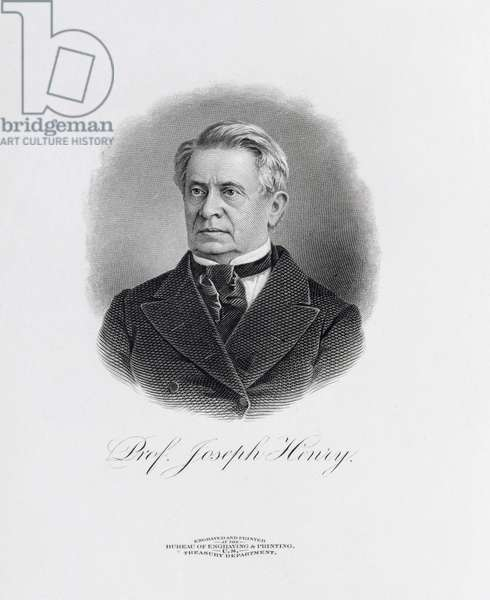 Professor Joseph Henry (1797-1878) from a frontispiece to 'A Memorial of Joseph Henry', Washington, 1880 (engraving)