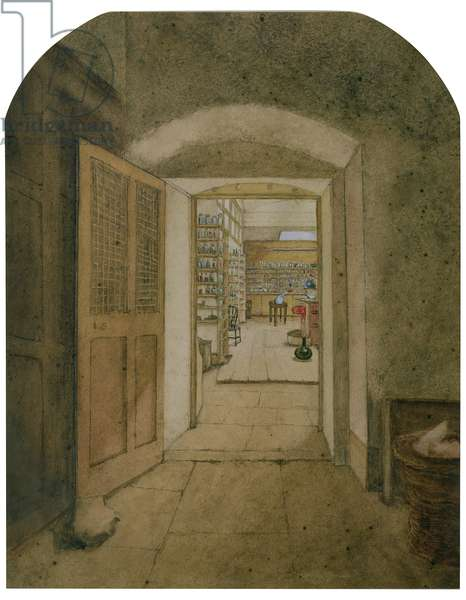 The Big Laboratory viewed from the Dark Room, 1860 (w/c on paper)