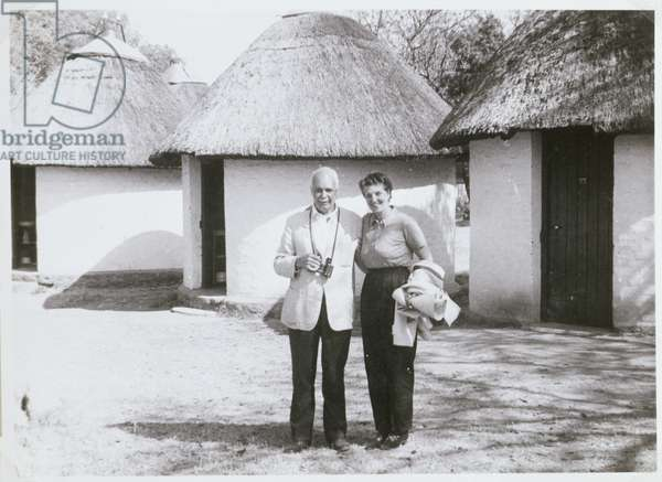 William Lawrence Bragg (1890-1971) in Africa (b/w photo)