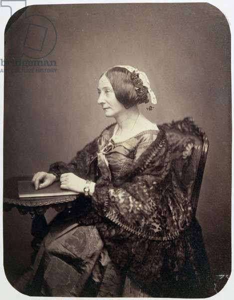 Miss Harriet Jane Moore (1801-84) late 1850s-early 1860s (albumen print)
